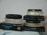 '           3x Pentax 49mm Filters Boxed-NICE SET- ' Pentax Polarizer, Yellow Green, Mor& Eve £14.99
